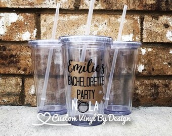 NOLA Bachelorette Cups | New Orleans Bachelorette Party | Bachelorette Party Favors | Bachelorette Party Tumblers | Bachelorette Party Cups