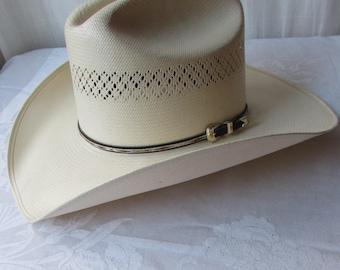 WESTERN HAT 20X Shantung PANAMA Cowboy 7 1/8 / 57 European