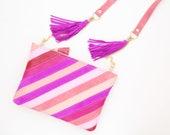 Shoulder bag. Natural leather purse. Statement purse. Crossbody bag. Stripe pattern bag. Practical bag. Color block. Colorful bag./UNUSUAL 3