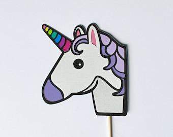 Unicorn Emoji Photo Booth Prop - Emoticon Party Props, Smartphone Icon, Social Media Photobooth