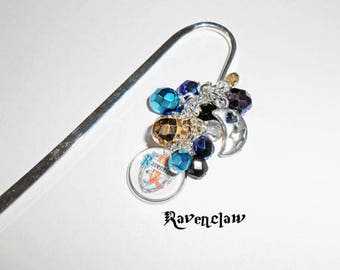 Ravenclaw Bookmark Charm, Harry Potter Inspired Charmed Bookmark, Book Hook,Harry Potter Beaded Bookmark, Bookmarks, Harry Potter Fan Gifts