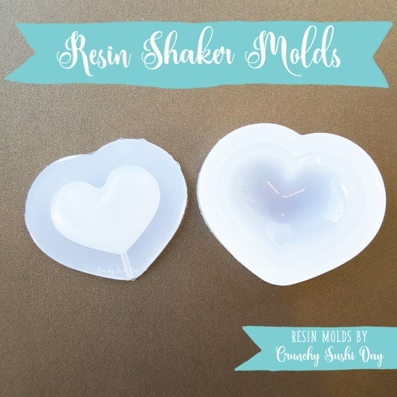 Puffy Heart Resin Mold, Resin Shaker Mold, Silicone Mold, Epoxy, Shaker Mold, Charm Mold, Kawaii, Resin Mold, Hollow Mold, UV Resin Mold