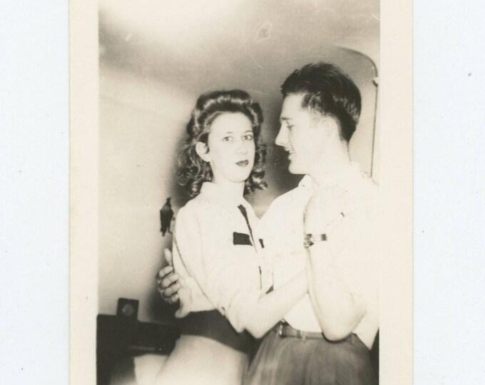 Vintage Snapshot Photo: Caroline & Don, 1942 [82654]