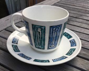 Ridgway 'Ondine' tea cup and saucer