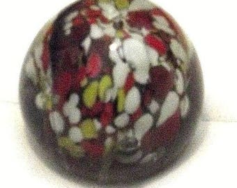 Vintage coloured glass paperweight, Retro glass coloured paperweight 1970's - rare