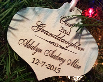 Grandson First Christmas Ornament - Our 1st Grandson - Grandson Christmas Ornament - Babys First Christmas Ornament -Grandson Ornament