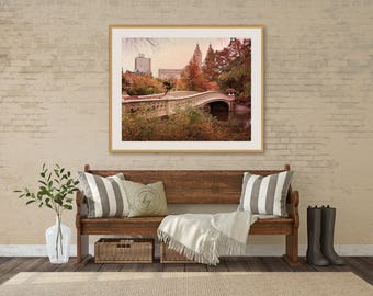 nyc photography fall foliage photo central park in fall bow bridge picture