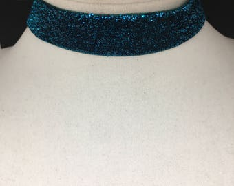 Sparkly Blue Choker