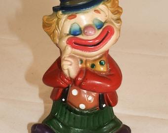 Vintage 1960s Happy Clown Piggy Bank