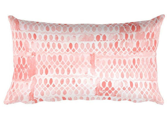 "Blush Lumbar Nursery Pillow, 12"" x 20"""