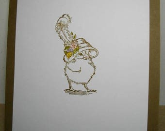 Chickie with Hat (hand-stamped) 7-Card Box