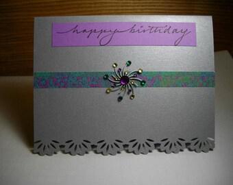 Silver Birthday Queen SIngle Card