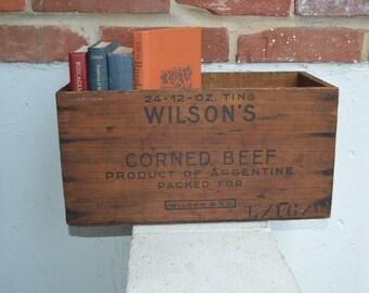 Wilson's Certified Corned Beef Wood Box Crate