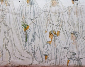 Butterick 4649 /Misses Wedding Veil / DIY Wedding /UNCUT
