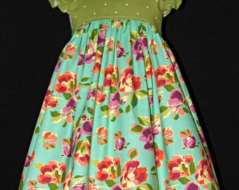 Girls dress size 3 ready to ship late summer early fall MADE in the USA