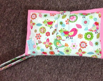 Baby Diaper Clutch with Wrist Strap/Diaper Wallet/Optional Changing Pad