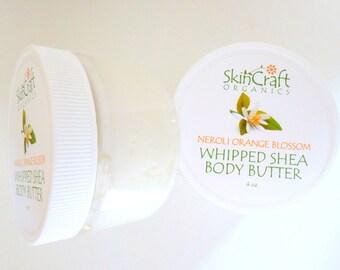 Neroli Orange Blossom Organic Body Butter - Body Cream - Neroli Body Moisturizer - Neroli Body Lotion - Natural & Vegan Gift for Her - 4 oz