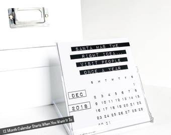 Funny 2018 Desk Calendar, Coworker Gift, Dark Souls, Rude Office Humor, Sassy, Sarcastic, Desktop Accessories, Third Edition