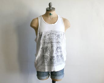 SALE Festival Illustrated Tank Top xl