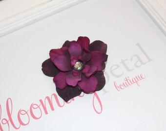 Purple Vintage Flower Clip