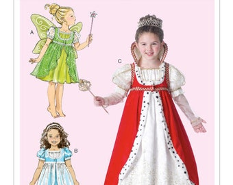 QUEEN, FAIRY, PRINCESS, costume pattern by McCall's Costumes MP446 and 7212