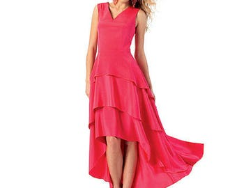 BEAUTIFUL  Tiered with Waterfall Hem Dress Pattern by McCall's Easy 6698