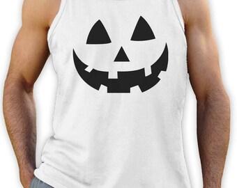 Smiling Pumpkin Face - Easy Halloween Costume Fun Singlet