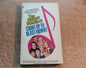 "Vintage Brady Bunch Paperback, ""Count Up to Blast-Down"" by William Johnston, 1970."