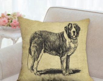 St. Bernard Dog Decorative Pillow (two styles to choose from)