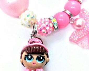 Lol dolls inspired charm bracelet