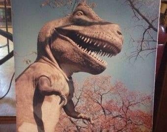 "Vintage 16"" x 20"" Mounted Photo Unusual T Rex Dinosaur Frank Warner"
