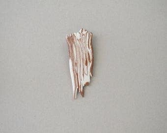 Brown and white brooch, ceramic brooch, modern ceramics, nature inspired jewelry, nerikomi, contemporary jewellery, unique gift