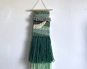 Shades of Green Woven Wall Hanging