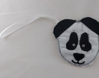 Panda luggage label