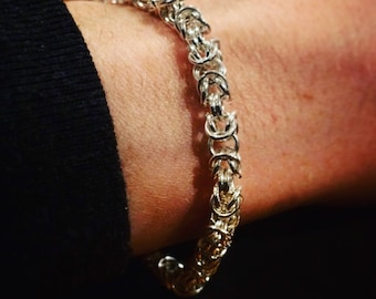 Hand-crafted Byzantine style Chain-Maille Bracelet