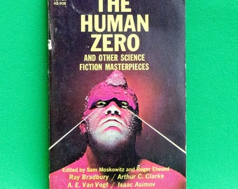 Vintage (1967) Tower Paperback, The Human Zero, 7 Sci-Fi Short Stories