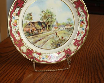 Mid Century Daher Decorated Ware -Metal Plate Made in Holland 1960's