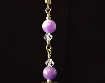 Purple and sterling silver earrings
