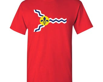 St. Louis City Flag T Shirt - Red