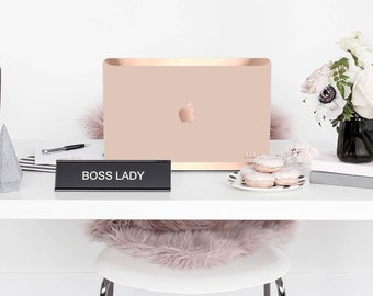 Platinum Edition Toasted Wheat with w/Rose Gold Edge Hybrid Hard Case for Apple Mac Air & Mac Retina , New Macbook 2016
