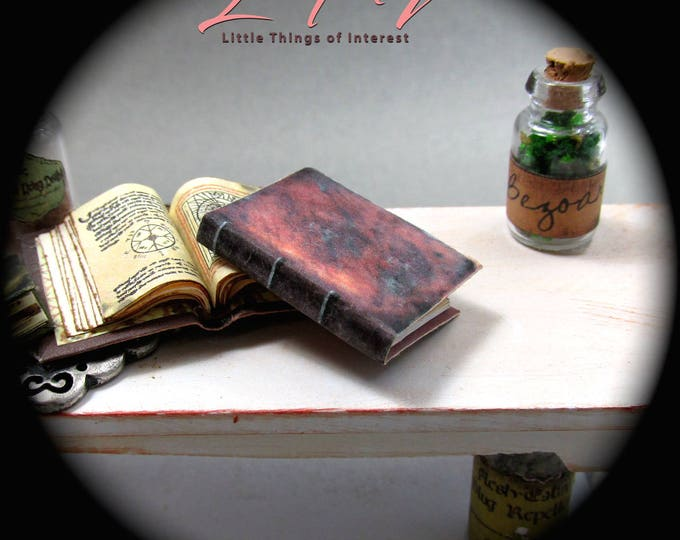 ESTHER'S GRIMOIRE SPELL Book Miniature Book Dollhouse 1:12 Illustrated Hand Written Book Vampire Diaries Resurrection Spell of Unknotting