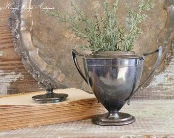 Antique Silver Sugar Loving Cup FORBES Farmhouse Decor Fixer Upper Decor