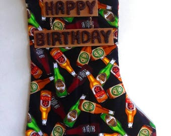 Beer Bottles Birthday Stocking 1