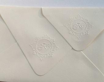 Custom Monogram Embosser, Personalized Embosser, Wedding Embosser, Invitation Envelope Embosser