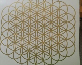 flower of Life in 61 circle version. 28cm diameter. various colours