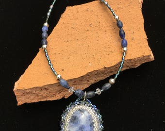Beaded Sodalite necklace