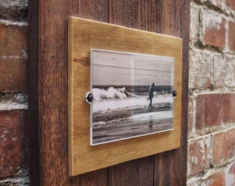 Photo Frame, Picture Frame, Pallet Frame, Wood Frame, Distressed Frame, 4x6 Frame, Custom Photo Frames