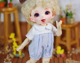 "Lati Yellow/Pukifee - ""Cloudy Milk"" Romper/Jumpsuit - BlueStripe"