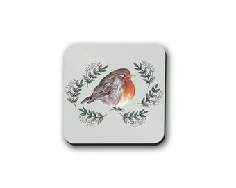 Robin Coasters, Bird Coasters, Gift for a Bird Lover, Animal Lover Gift,