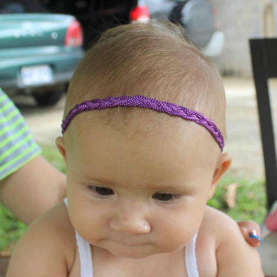 Purple Headband, Purple Headband Baby,  Braided Headband, Halo Headband, Toddler Headband, Infant Headband, Baby Headband, Handmade Headband